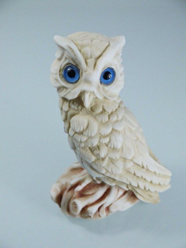 Owl of Athens Wisdom Solid Bronze sculpture Ancient Greek Green-Gold Handmade
