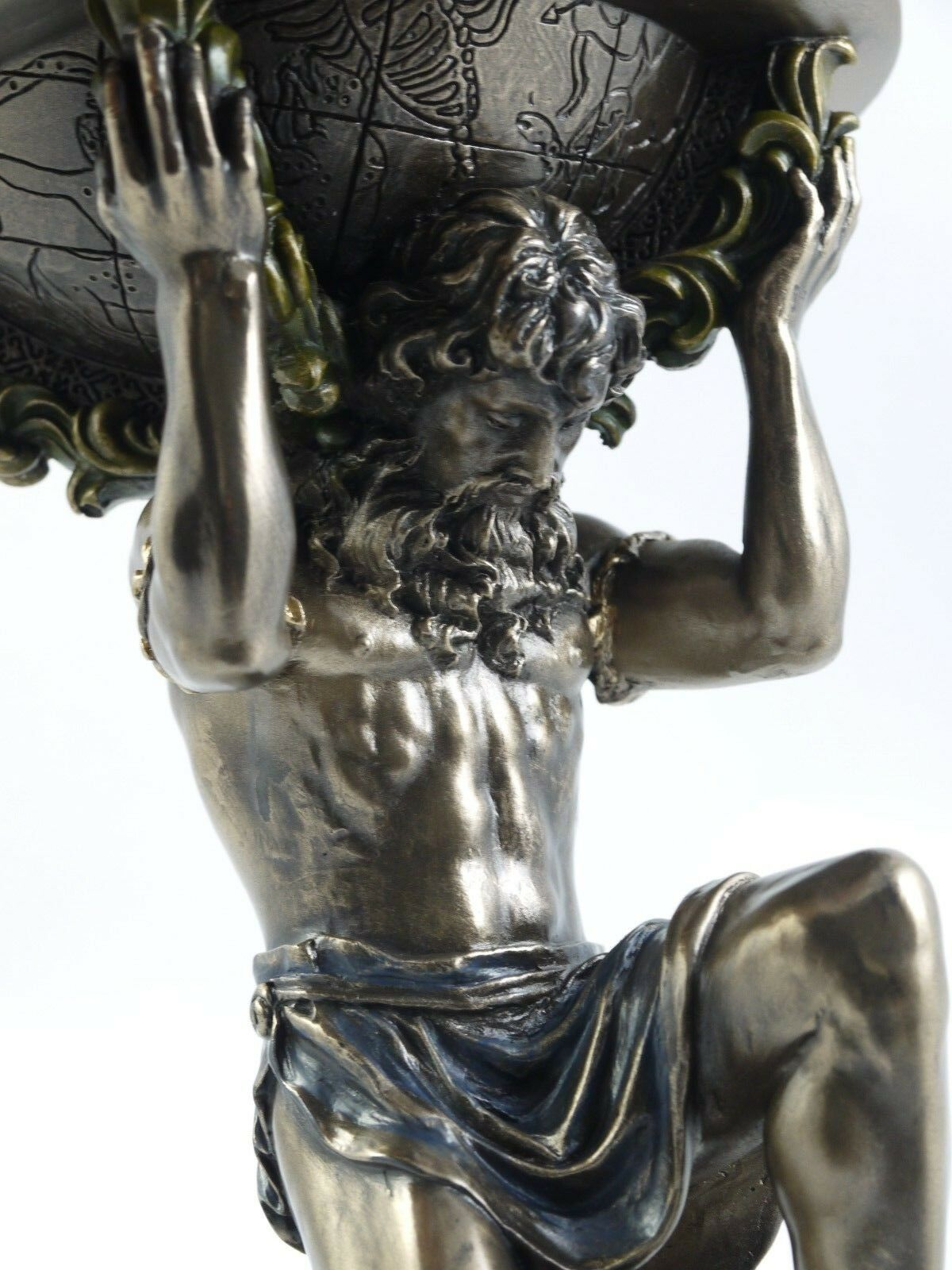 Atlas Carrying The World Greek God Statue Figurine Sculpture 9 23cm