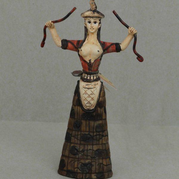 Minoan Snake Goddess Statue Healer Messenger Priestess Sculpture 7.9″ 20cm