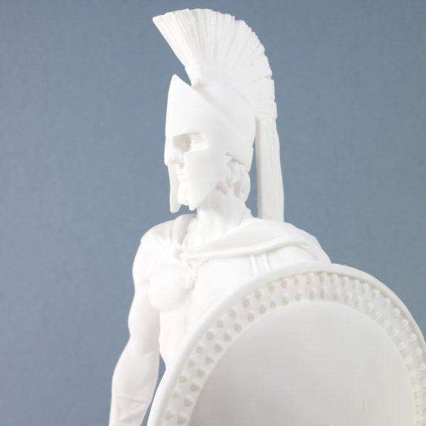 LEONIDAS Statue Greek Spartan King Sculpture Figure Alabaster 13.77″ / 35cm