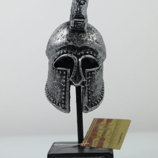 Ancient Greek Warrior Helmet 4.72″ Collectible Decor Silver Coloured