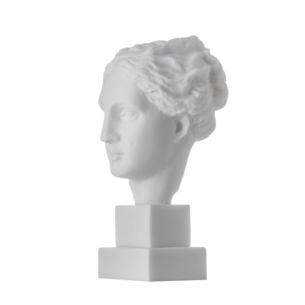 Hygeia Goddess of good health, cleanliness, and sanitation Statue  Bust Alabaster 5.9″