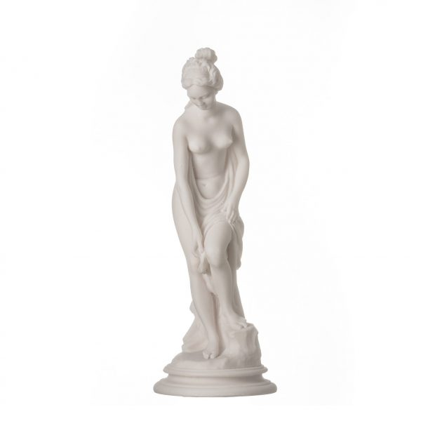 Helen Of Troy Sparta  Nude Naked Female Figure Alabaster Statue Sculpture 9″
