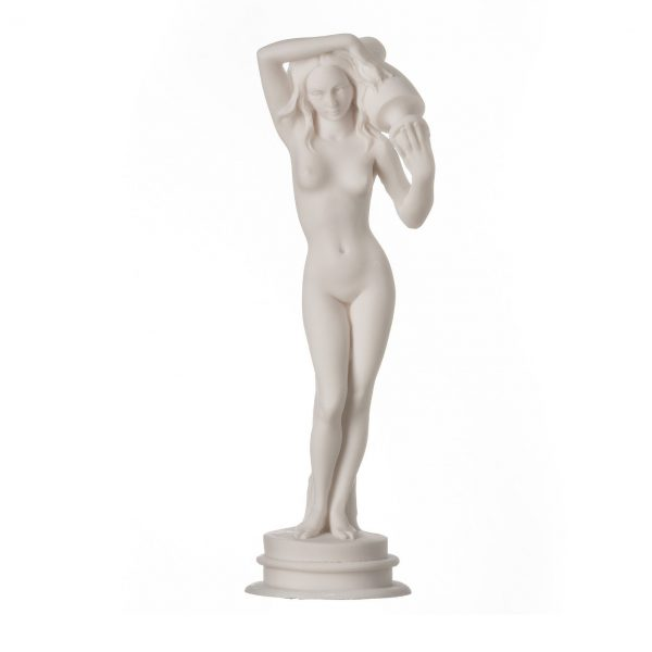 """Ancient Greek Goddess Aphrodite Alabaster Statue With a Pitcher 9.84"""""""