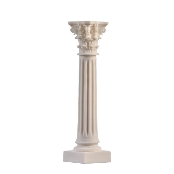 Greek Column Corinthian Order Ancient Decoration Architecture Alabaster 8.26″