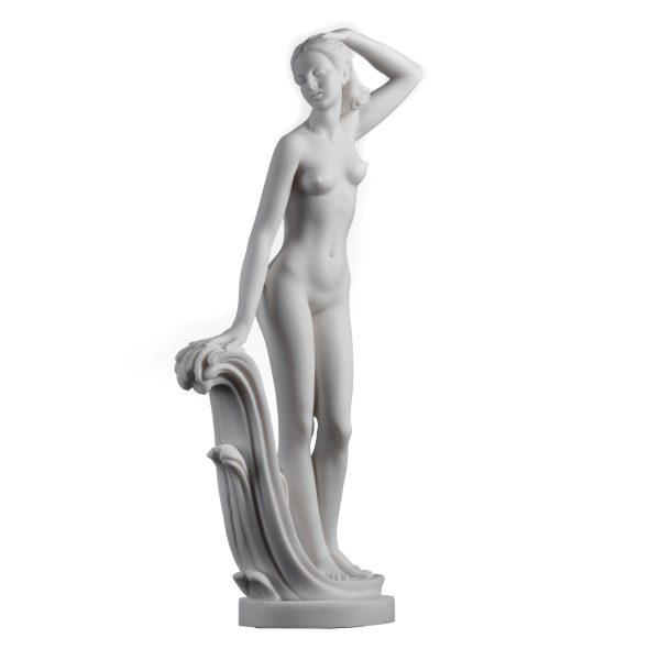 Ancient Greek Goddess Aphrodite Venus Alabaster Statue  12.2""