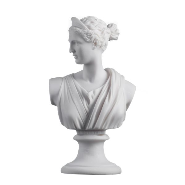 Artemis Diana Bust Greek Statue Nature Moon Goddess 8.66″