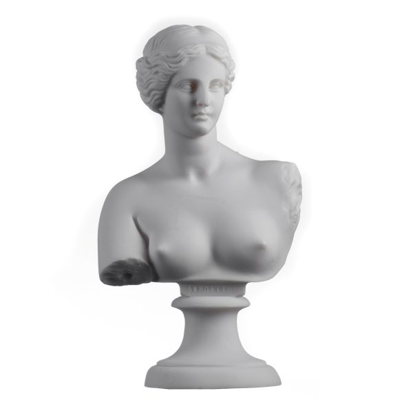 Aphrodite Venus Goddess Bust Sculpture in Ancient Greek Roman Mythology Greek Hand Made Marble Cast Statue 9″