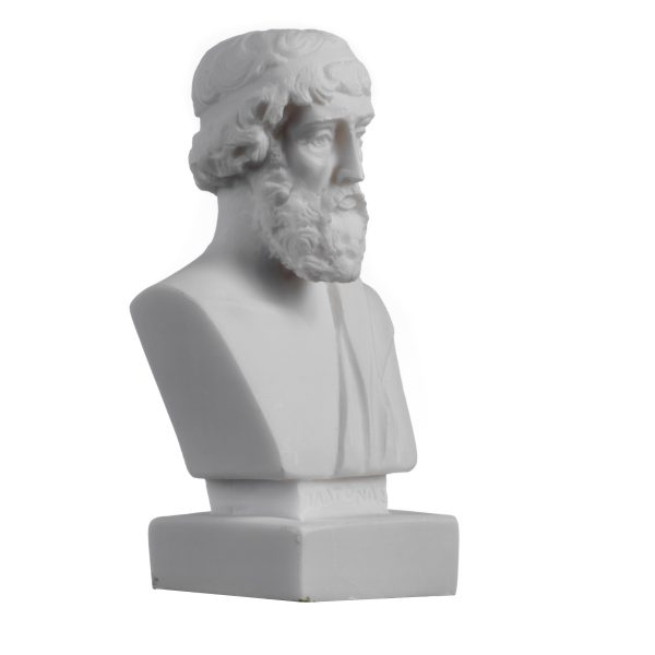 Plato Greek Father Of Philosophy Statue Alabaster Handmade Head Bust Sculpture