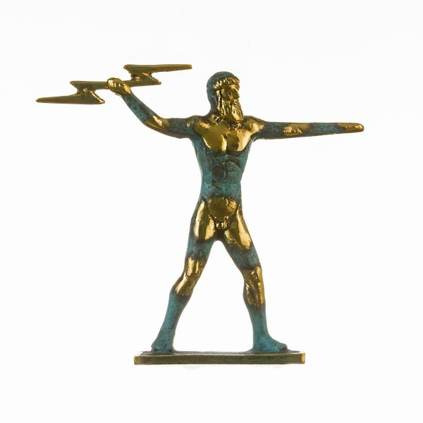 Zeus Jupiter Statue God Greek Solid Bronze 5.11″