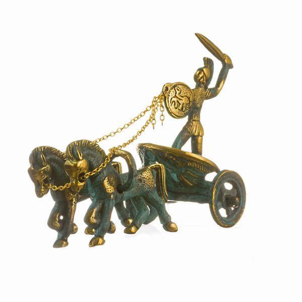 Ancient Greek  Achilles Chariot  Bronze Solid  4.3″