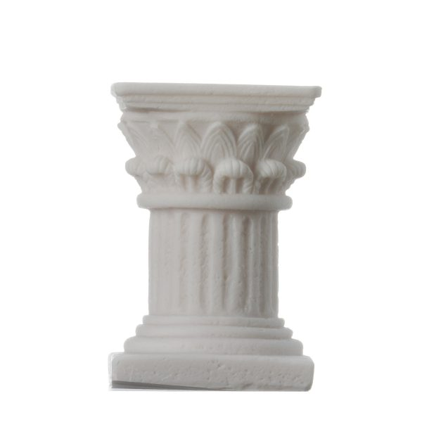 Romantic Dinner Candle Corinthian Order Holder Ancient Greek Column 3.9″