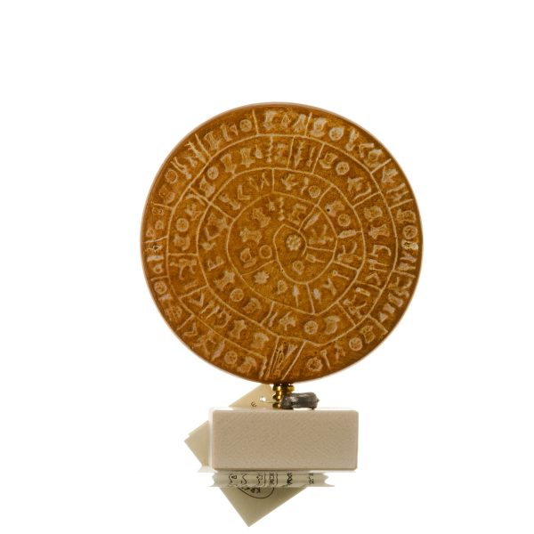 Minoan Phaistos Disc Handmade Greek Art Museum Replica 5.1″ 13x10cm