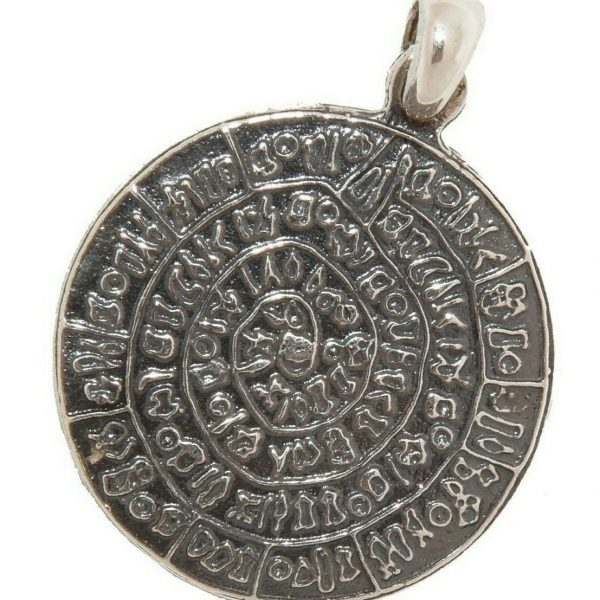 Phaistos Disc Silver Sterling 925 Pendant Mythical Greek Unisex
