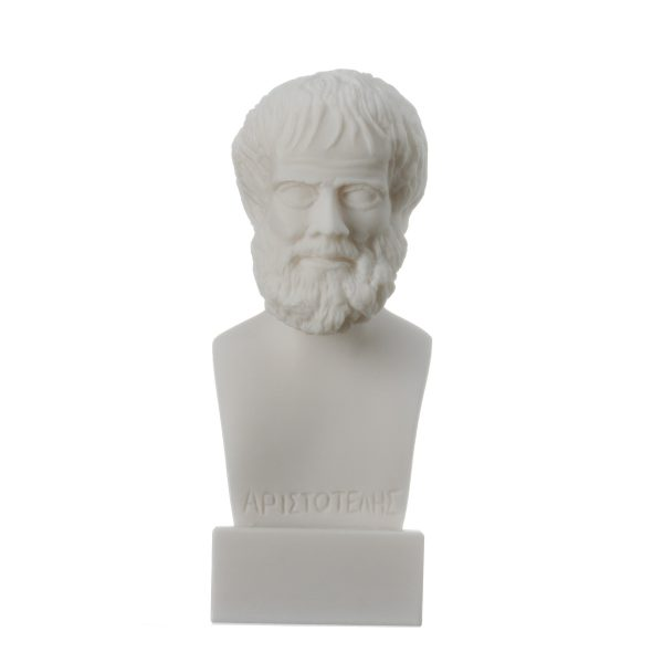 Aristotle Greek Philosopher in Ancient Greece Alabaster Statue Bust 6.2″