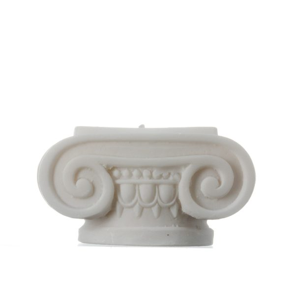 Set of 2 Ionic Order Candle Holder Ancient Greek Column Decoration Architecture Alabaster