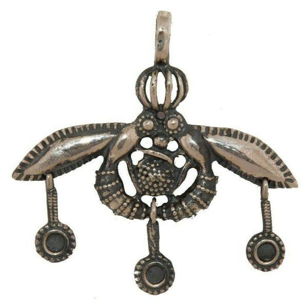 Malia Bees Minoan Cretan Pendant Silver Sterling 925 Handmade Museum Reproduction
