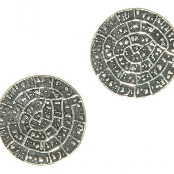 Phaistos Disc Earing Silver Sterling 925 Mythical  Greek