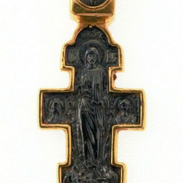 Orthodox Cross Russian Greek Crucifix Silver 925+.999 Gold 1.18″