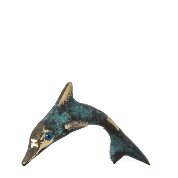 Minoan Dolphin Crete Knossos Handmade Bronze 10.5cm 4.13″