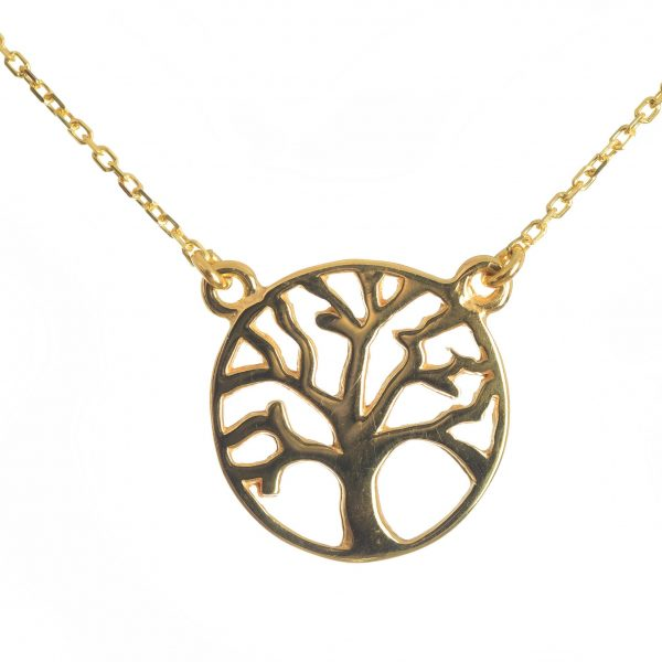 Tree of Life Necklace, Tree Necklace, Sterling Silver Necklace, Pendant Necklace, Jewelry, Gift for her,Gold Plated