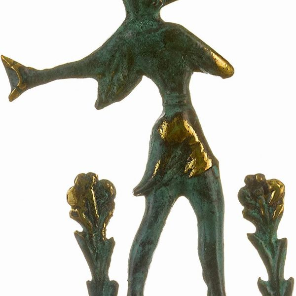 Minoan Prince of Lillies Solid Bronze Figurine 4.72″ Crete New Handmade