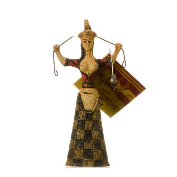 Minoan Snake Goddess Knossos Statue Healer Messenger Priestess Sculpture 3.93″ 10cm