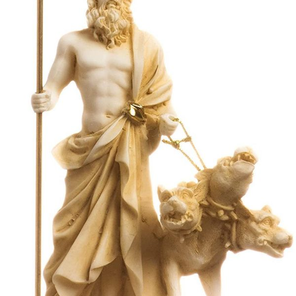 Pluto Hades Lord of the Underworld Greek Statue Dead Figurine Museum Gold 5.51″