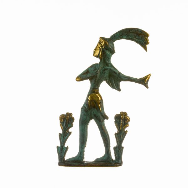 Minoan Prince of Lilies Vintage Bronze figurine Ancient greek statuette Priest-King Minoan Crete man figure.Gift for him Office decor