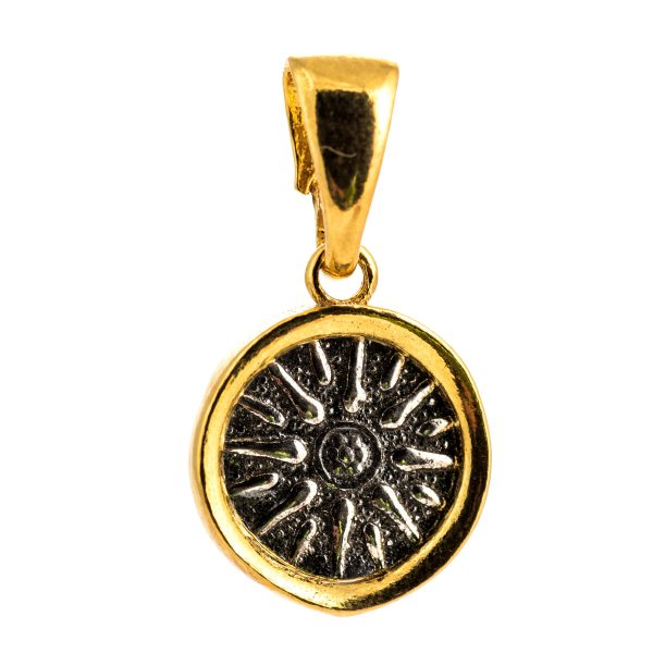Star of Macedonia Silver Pendant 925 Alexander the Great Gold Plated Vergina Sun Star
