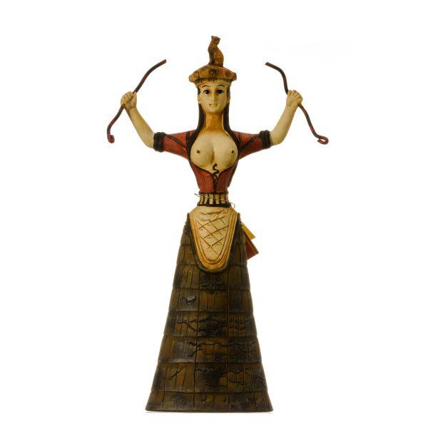 Minoan Snake Goddess 16th Century Replica Cretan Healer Priestess Statue 7.9″