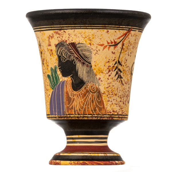 Pythagoras Cup of Justice Pythagorean Fair Mug Ancient Greek Goddess Hera Hand Painted Ceramic