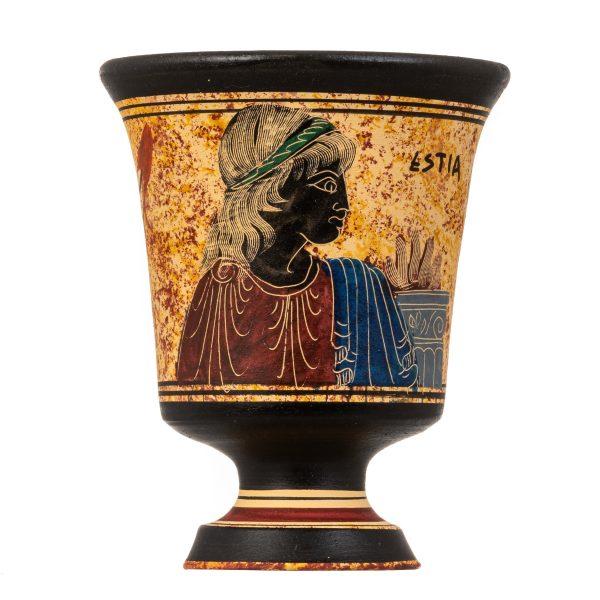 Pythagoras Cup of Justice Pythagorean Fair Mug Ancient Greek Goddess Hestia Hand Painted Ceramic