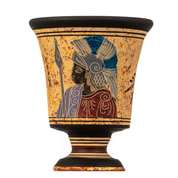 Pythagoras Cup of Justice Pythagorean Fair Mug Ancient Greek Goddess Athena Hand Painted Ceramic
