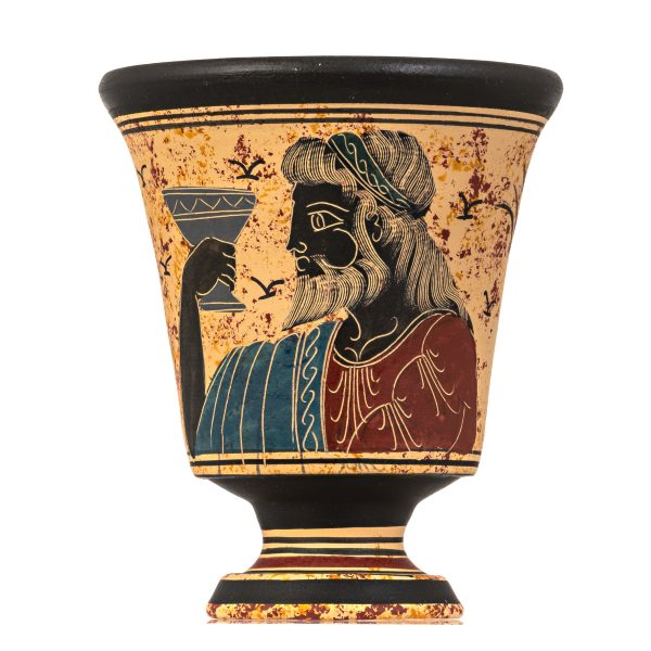 Pythagoras Cup of Justice Pythagorean Fair Mug Ancient Greek God Dionysus Hand Painted Ceramic