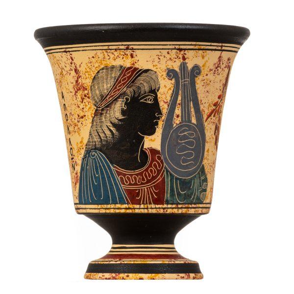 Pythagoras Cup of Justice Pythagorean Fair Mug Ancient Greek God Apollo Hand Painted Ceramic