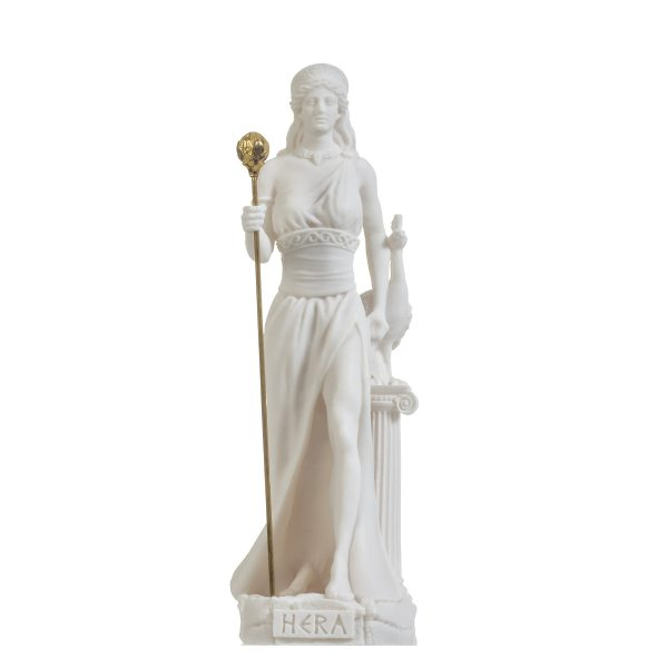 Hera Goddess of marriage, women, childbirth, and family Alabaster 8.66″