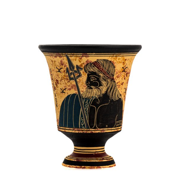 Pythagoras Cup of Justice Pythagorean Fair Mug Ancient Greek God Poseidon Hand Painted Ceramic