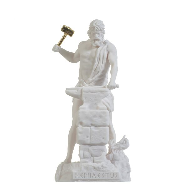 Hephaestus God of fire, metalworking, stone masonry, forges  and the art of sculpture 9.05″